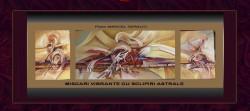 Picturi abstracte/ moderne Miscari vibrante cu sclipiri astrale--269