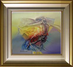 Picturi abstracte/ moderne pasare din inima cosmosului  x3