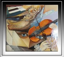 Picturi abstracte/ moderne Pasiune ancestrala--102