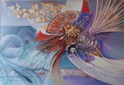 Picturi abstracte/ moderne planeta cosmica  00