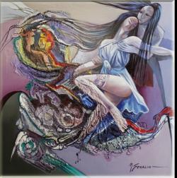 Picturi abstracte/ moderne suflete pereche--u771