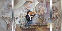 Picturi abstracte/ moderne sunetul muzicii vibreaza in culoare