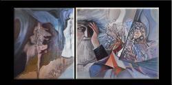 Picturi abstracte/ moderne diptrik-TEMPLIERUL varianta3