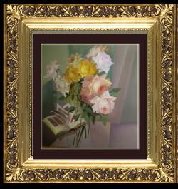 Picturi abstracte/ moderne trandafiri cu dulci sclipiri-n