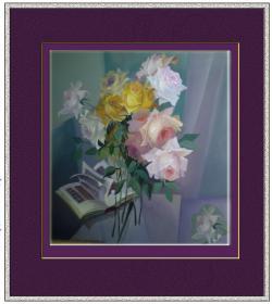 Picturi abstracte/ moderne trandafiri scrisi in cartea de aur