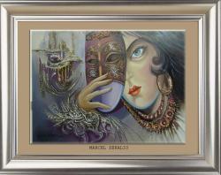 Picturi abstracte/ moderne un chip de catifea sub o masca venetiana 4