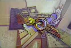 Picturi abstracte/ moderne univers  cu sunete tainice