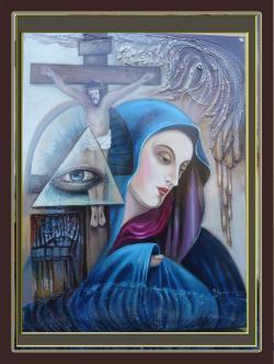 Picturi abstracte/ moderne xx4-aparitie divina