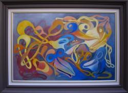 Picturi abstracte/ moderne ,,...nasterea...,,