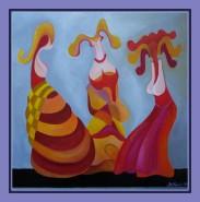 Picturi abstracte/ moderne ,,madonnine-4,,