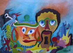 Picturi abstracte/ moderne Alegrie latino americana
