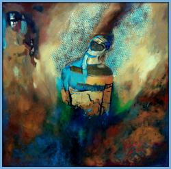 Picturi abstracte/ moderne Inger cu aripi perforate
