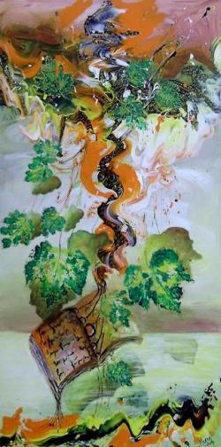 Picturi abstracte/ moderne Aici si frunzele vorbesc