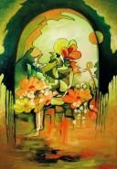 Picturi abstracte/ moderne Ascultand sunetul florilor