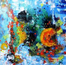 Picturi abstracte/ moderne Cand luna merge la culcare