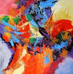 Picturi abstracte/ moderne Cand soarele pe cer va rasari