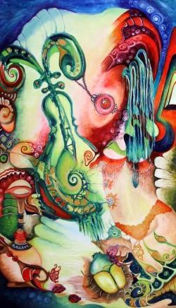 Picturi abstracte/ moderne Din colectia Nymphs -Dincolo de timp