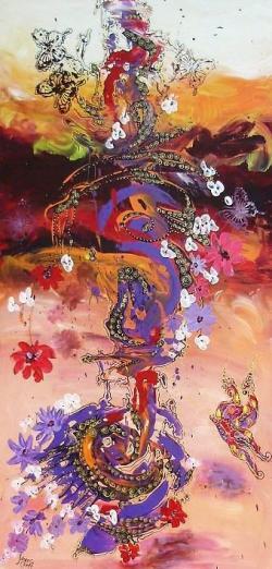 Picturi abstracte/ moderne La inceputul serilor de mai