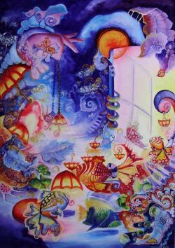 Picturi abstracte/ moderne Lampionul de pe aleea soarelui