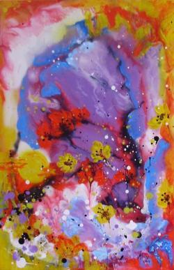 Picturi abstracte/ moderne Luna printre cranguri