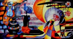 Picturi abstracte/ moderne Prin tunelul timpului