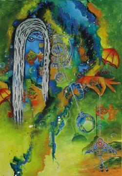 Picturi abstracte/ moderne Timpul de odinioara