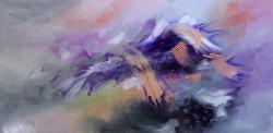 Picturi abstracte/ moderne Un val de bruma argintie
