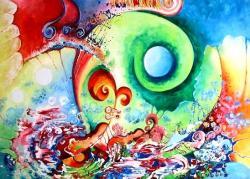 Picturi abstracte/ moderne Vioara captiva in timp