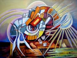 Picturi abstracte/ moderne Geometrie cu pasari