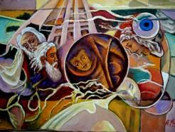 Picturi abstracte/ moderne Inchinarea magilor3