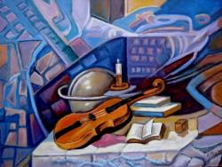 Picturi abstracte/ moderne Lutiera din cremon