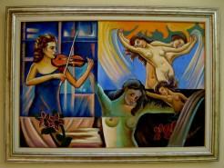 Picturi abstracte/ moderne Rapsodie albastra