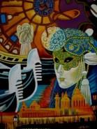 Picturi abstracte/ moderne Tablou carnaval venetian
