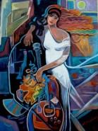 Picturi abstracte/ moderne Tablou glasul eului3