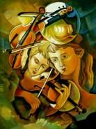 Picturi abstracte/ moderne Tablou la campannela2