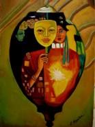 Picturi abstracte/ moderne Tablou lampion