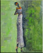 Picturi abstracte/ moderne Femeia zulu 2
