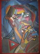 Picturi abstracte/ moderne Autoportret cubist 1