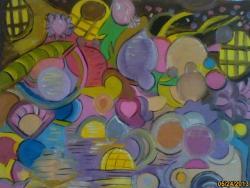 Picturi abstracte/ moderne bulgari de culoare