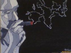 Picturi abstracte/ moderne fumatorul