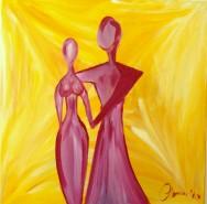 Picturi abstracte/ moderne Invitatie la dans