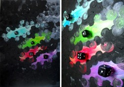 Picturi abstracte/ moderne Electric dice