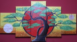 Picturi abstracte/ moderne El bonsai de la luna