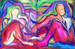 Picturi abstracte/ moderne PAREJA