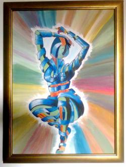 Picturi abstracte/ moderne nud de tinichea