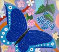 Picturi abstracte/ moderne Fluture si flori 3