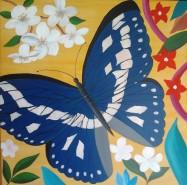Picturi abstracte/ moderne Fluture si flori 7