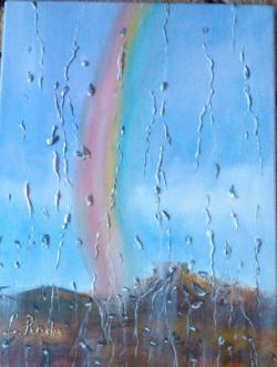 Picturi abstracte/ moderne Curcubeul