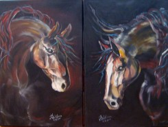Picturi abstracte/ moderne Abstract horses