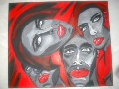 Picturi abstracte/ moderne Red and black